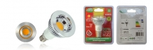 Led spot 5w GU 10 COB warm wit , spotlamp